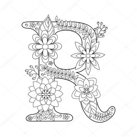 harfi boyama kitabi yetiskin vektoer icin stok vektoer