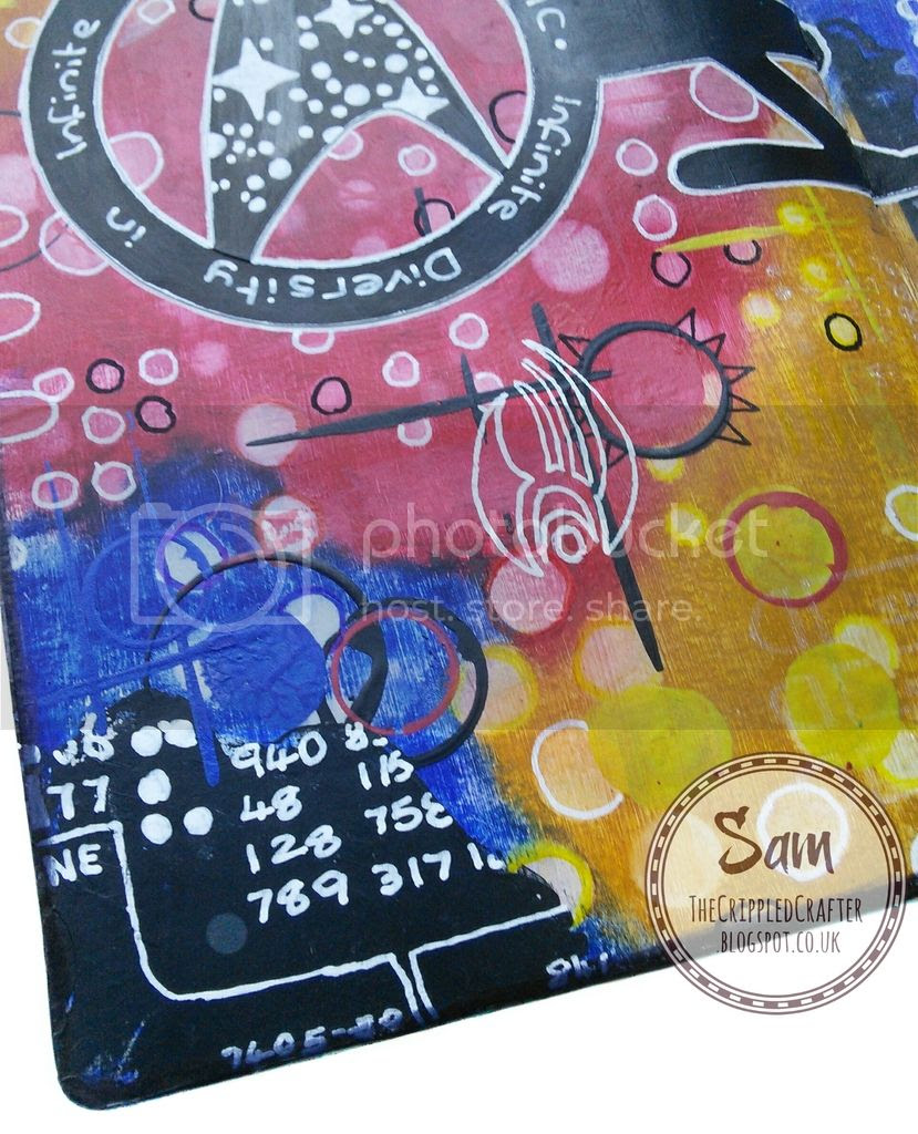 Trekkies - Art Journal Page by The Crippled Crafter, featuring Bloobel Stamps & Gelatos