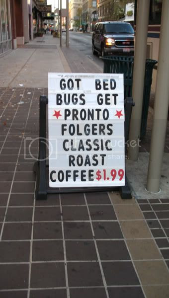 Got bedbugs? drink coffee