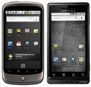 Google Nexus One and the Droid