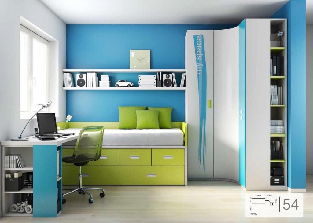 Dormitorio muebles modernos pintar habitacion juvenil - Como decorar dormitorios juveniles ...