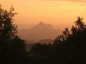 English: Mt warning at sunset