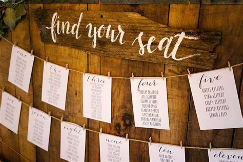 find your seat rustic wooden sign seating chart   Wooden