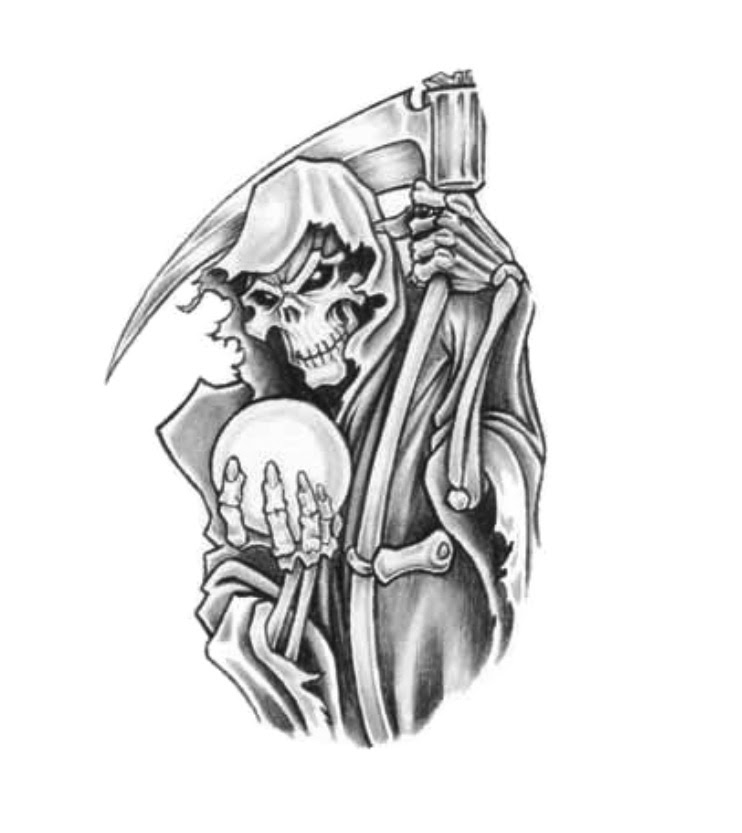 Grim Reaper Death Tattoo Design Idea