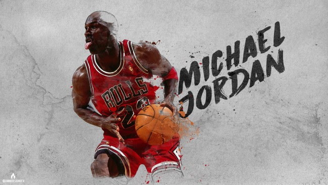 Wallpaper Michael Jordan Basketball Chicago Bulls Artistic Wallpapermaiden
