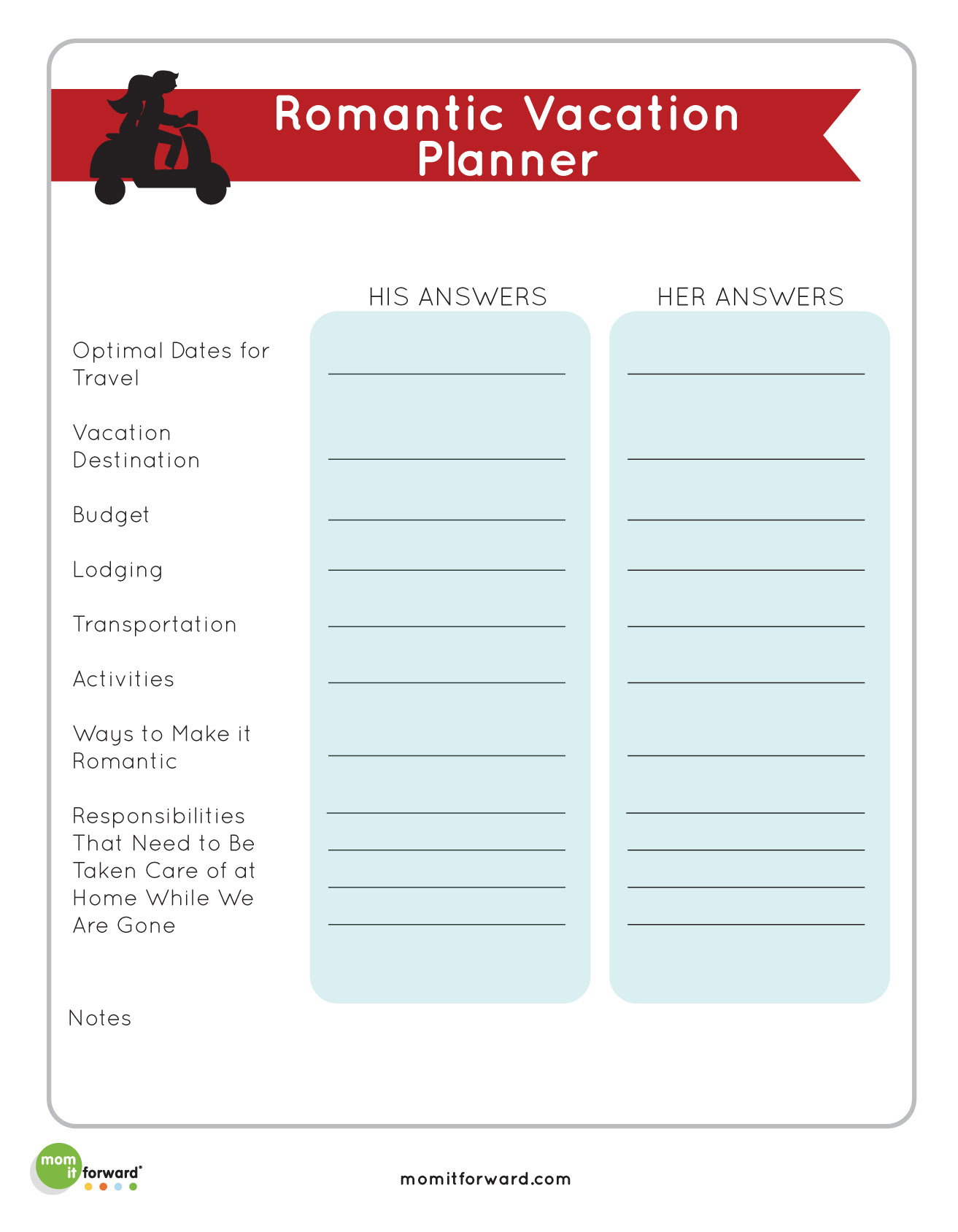 Printables Romantic Vacation Planner  Mom it ForwardMom