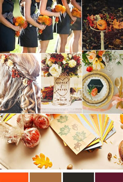 Vintage Fall Weddings?Top 3 Hot Wedding Color Inspiration
