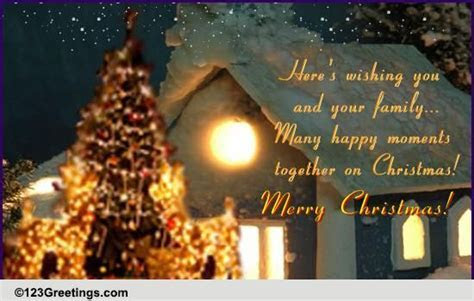 Many Happy Moments On Christmas! Free Religious Blessings