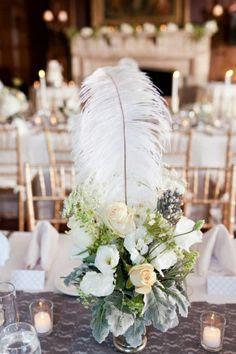 Centre de table: Gatsby boule de fleurs et vase LED en location ...