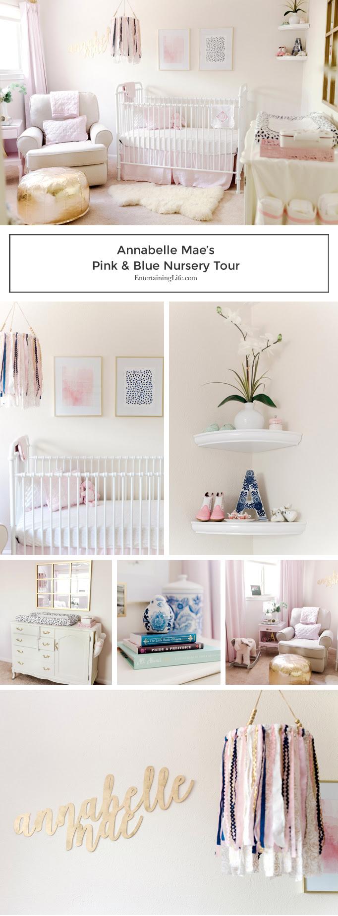 Annabelle Maes Pink And Blue Baby Girl Nursery Entertaining Life
