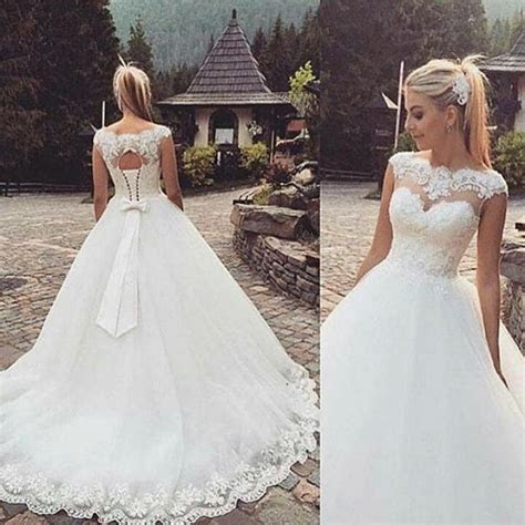 whiteivory wedding dress bridal gown stock size