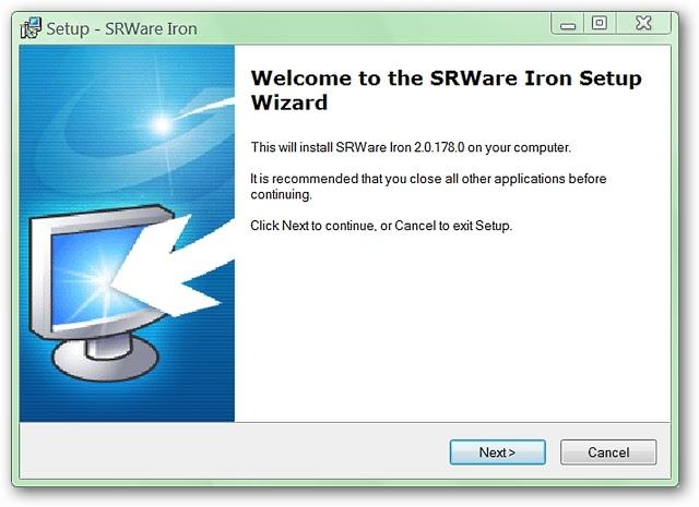 Instalar SRWARE Iron, la mejor alternativa a Chrome también disponible con Windows XP