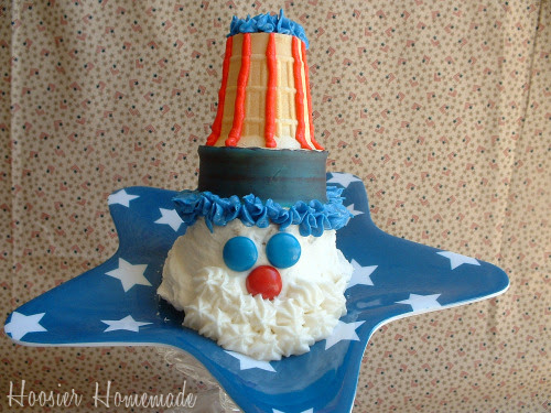 Uncle Sam Cupcake