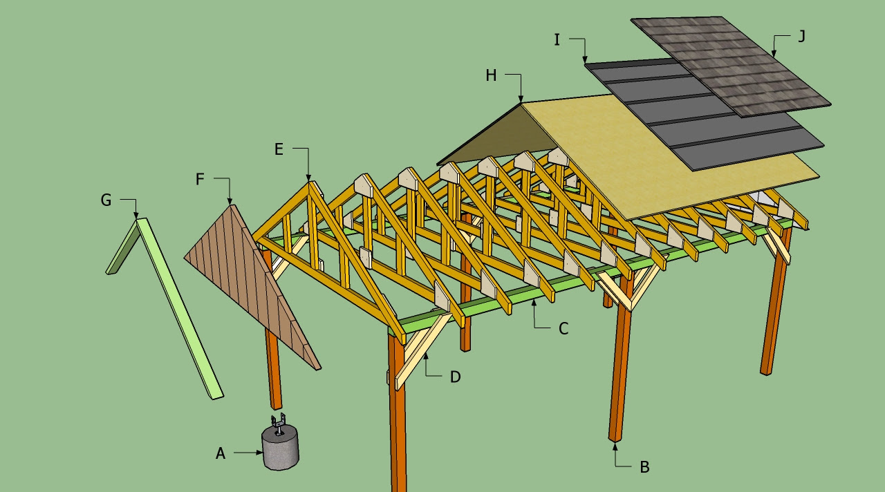 Sheds Ottors: Garage plans with lean to
