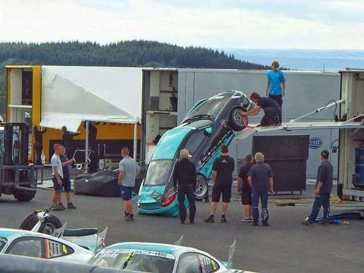 Porsche Supercup Truck Fail