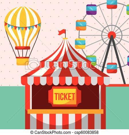 ticket booth ferris wheel carnival fun fair festival