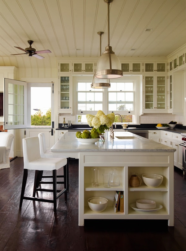Charming White Kitchen by Sawyer Berson Architects