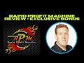 Rapid Profit Machine Review ⌛ DFY Affiliate Marketing Funnel 💝 Exclusive Bonuses & Training