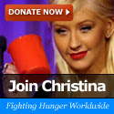 christina aguilera fighting hunger