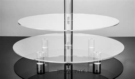 Jusalpha® Large 5 Tier Acrylic Round Cake Stand cupcake
