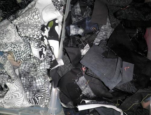 Black/white scraps