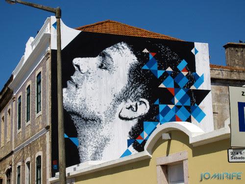 Arte Urbana by Eime - Rosto a olhar o céu na Figueira da Foz Portugal (3) [en] Urban art by Eime - Face looking at the sky in Figueira da Foz, Portugal