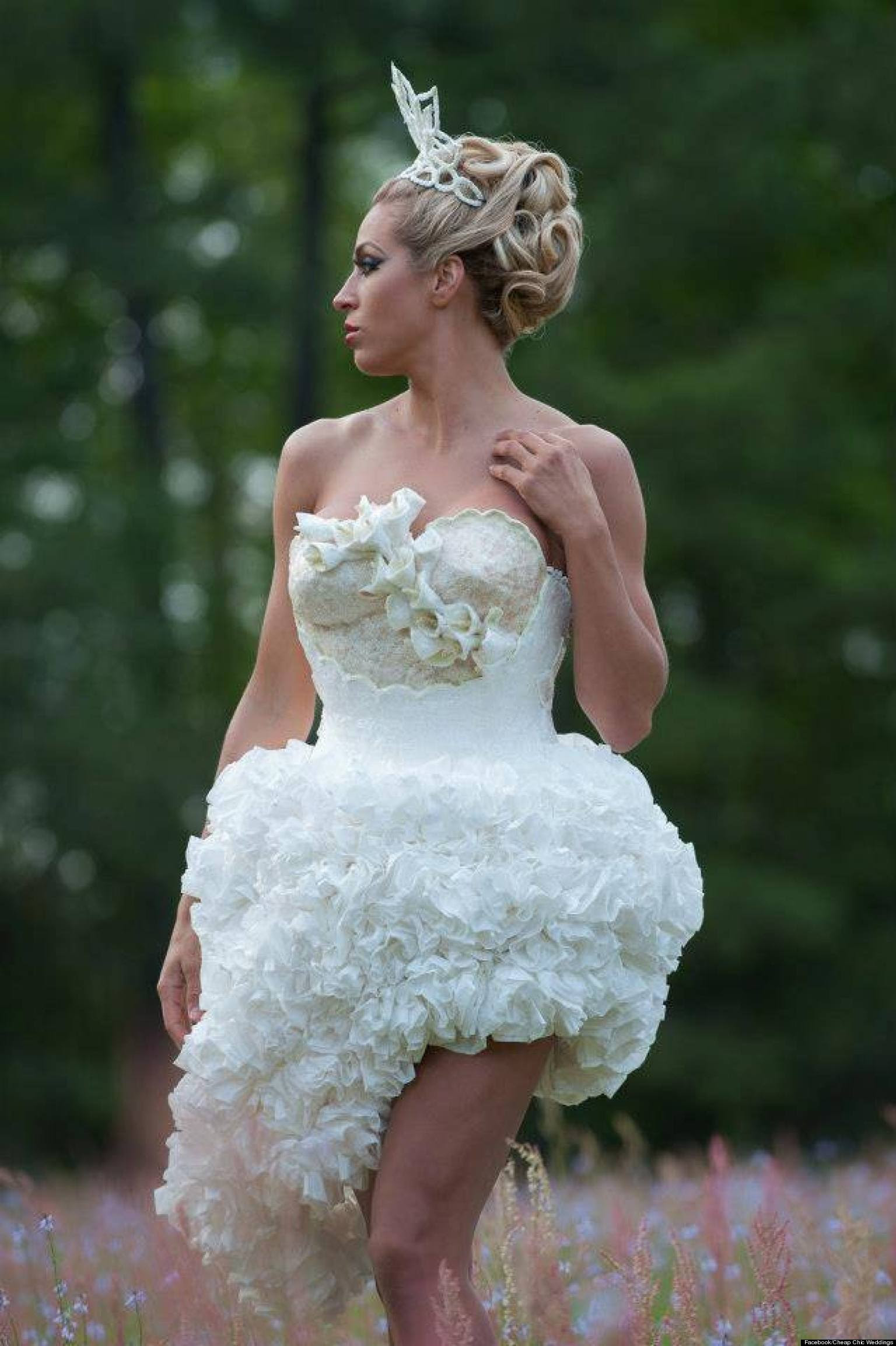 Mimoza Haska Wins Toilet Paper Wedding Dress Contest 2013 ...
