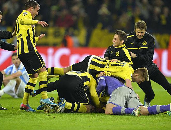 Cuando todo estaba perdido, el Dortmung logró dos goles en un minuto para conseguir el pase.