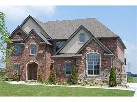 stunning  images brick  stone house pictures house