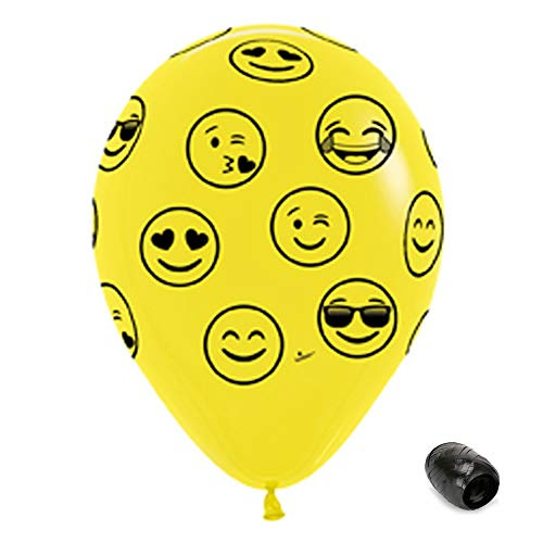 10 Pack 11 Music Notes Assorted Colors Latex Balloons with Matching Ribbons