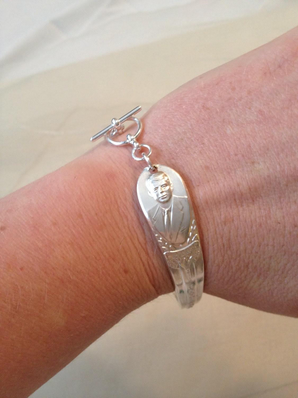 President John F Kennedy Cameo Souvenir Bracelet