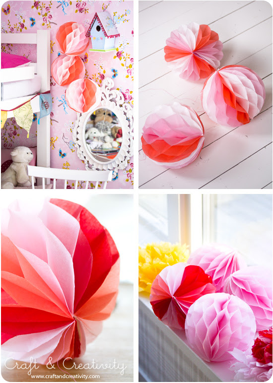 DIY Honeycomb papel bola - por Craft & Creativity