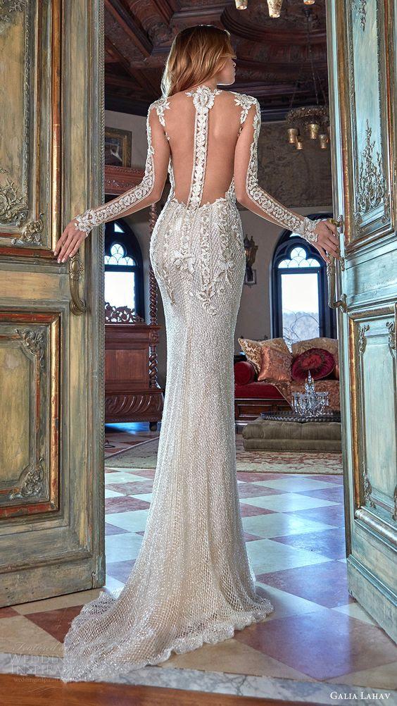 sparkling silver-Mantel-brautkleid mit illusion-ärmel und eine illusion racerback
