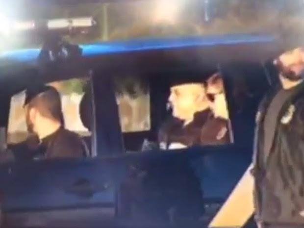 Carlinhos Cachoeira foi preso em operação da Polícia Federal, em Goiânia, Goiás (Foto: Cassiano Rolim/TV Anhanguera)