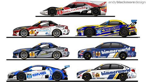 Livery: An overview of art for the 2015 Rolex24 andy Blackmore Design