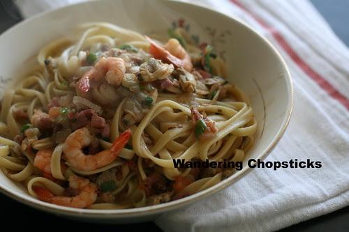 Italian Clam and Shrimp Fettuccine 1