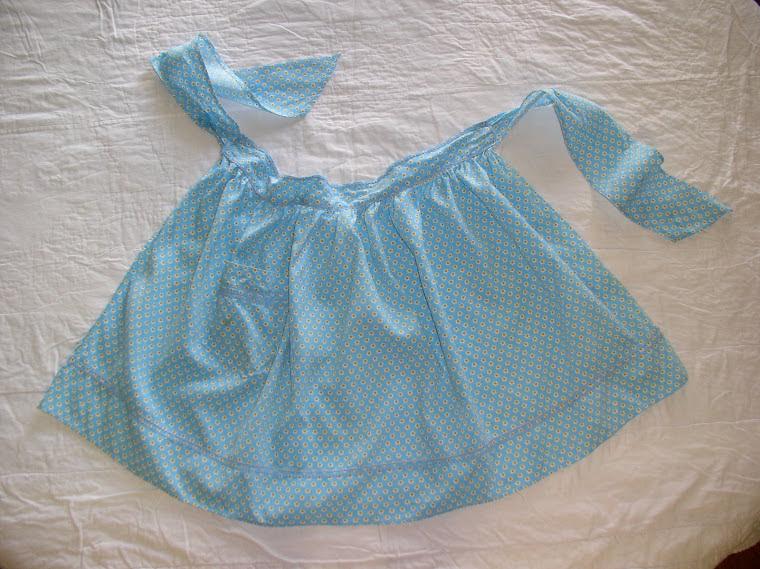 Granny's blue apron