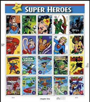 DC Superhero Stamps