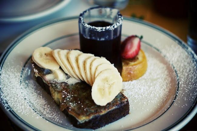 banana walnut french toast.