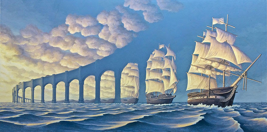 diaforetiko.gr : magic realism paintings rob gonsalves 100 33 Πίνακες Ζωγραφικής με οπτικές ψευδαισθήσεις που παίζουν με το μυαλό σου.