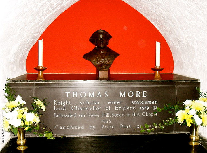 Tomb of St. Thomas More,Tower of London