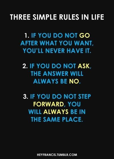 Three Simple Rules Quoteso True Inspiring Quotes And Sayings