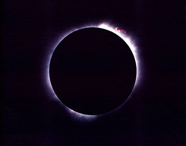 The Great Eclipse of July 11, 1991...as seen from Puerto Challe in Baja, California.
