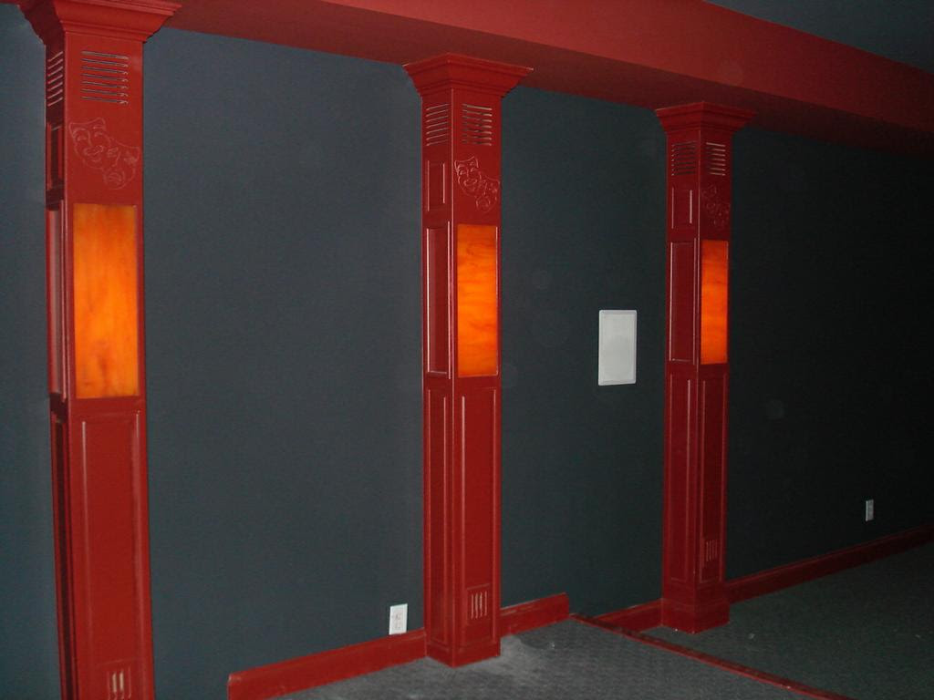 Picture: Light up columns in theater room.JPG provided by ...
