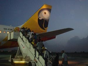 fastjet A320 in Dar es Salaam