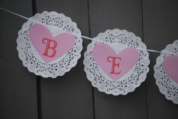 Vintage Inspired Valentine's Day Banner-Be Mine