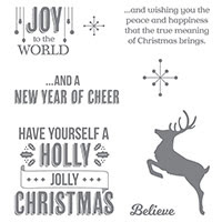Jolly Christmas Wood-Mount Stamp Set by Stampin' Up!