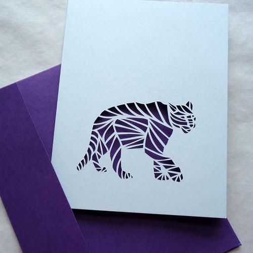 papercut panther card