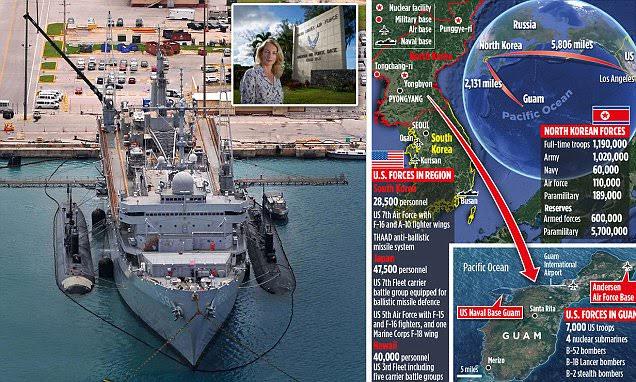 À l'intérieur de la force aérienne de Trump et des bases navales sur Guam