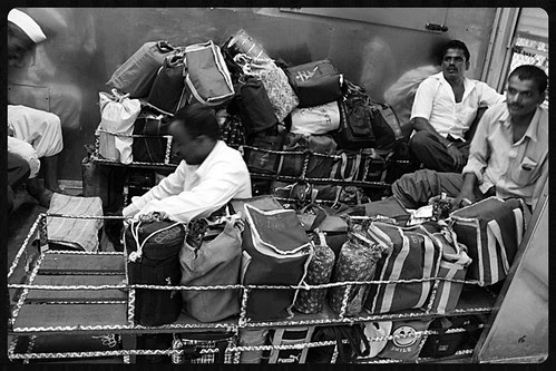 Dabbawalas In The Train... Hardships Dont Complain Or Pull The Chain by firoze shakir photographerno1
